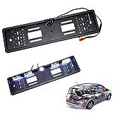 Rokoo Universal HD Auto Rückansicht Backup Reverse Kamera Europäische Nummernschild Rahmen Nachtsicht mit LED