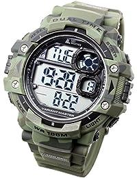 [Lad Weather] Dual Time/100M resistenza all' acqua/cronometro/Pacer funzione/display digitale/orologio militare/mimetico