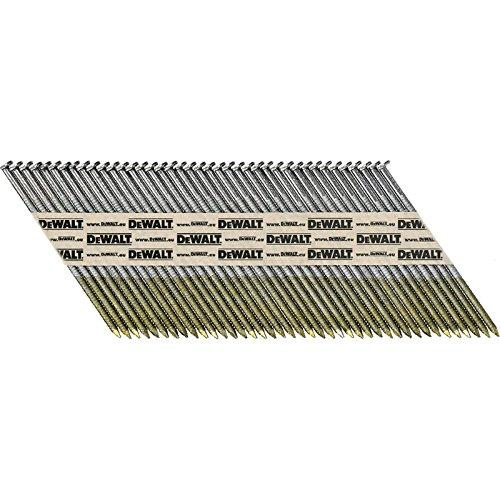 DeWalt 75mm x 2.8mm Ring Shank Hot Dip Galvanised 34 Degree Nails Pack of 1100 (Ring Hot Dip)