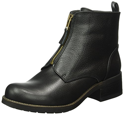Apple of Eden Damen Dia Biker Boots Schwarz (Black)