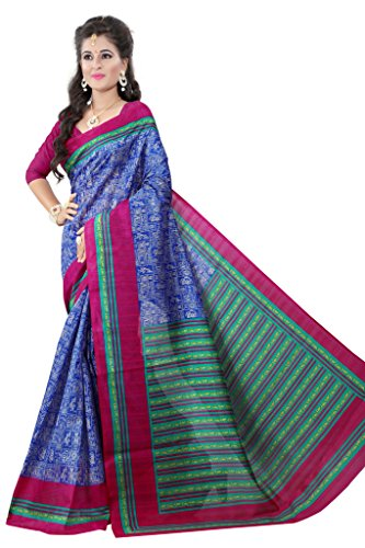 Glory Sarees Cotton Saree (Vnart23_Blue And Green)