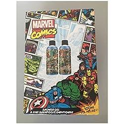 Marvel Comics juego de Duo de baño/gel de ducha champú/acondicionador nuevo