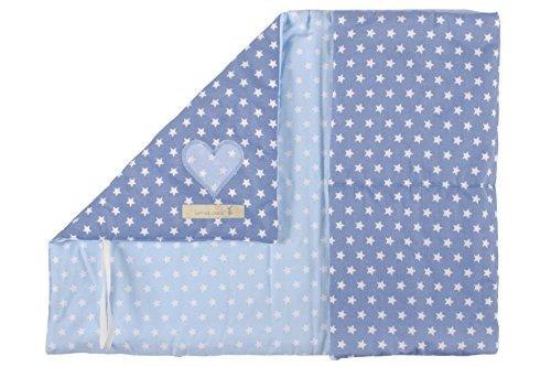 LOTTAS LABLE 1800-57 Reise-Wickelutensilos – wickeln to go – Star jeans/hellblau