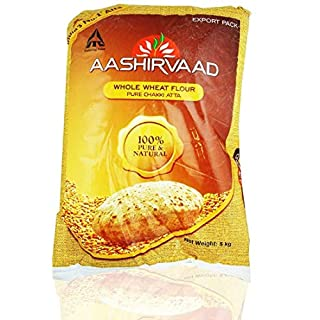 Aashirvaad Indian Atta Wheat Flour for Baking Flatbreads, Roti, Naan, Chapati and Puri - 5kg Bag
