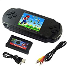 "Imoxx -Console de jeu portable LCD 2,7 "" 16bit PXP3 slim Retro Video Game Player Jouets pour enfants + de 10000 jeux inclus"