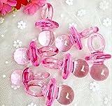 CHSYOO 100 x Mini Deko Schnuller Set, Konfetti Tischdeko Confetti Streudeko Mitgebsel Geschenk für Taufe Babyshower Babyparty Hochzeit Geburtstag Kinder Party, rosa