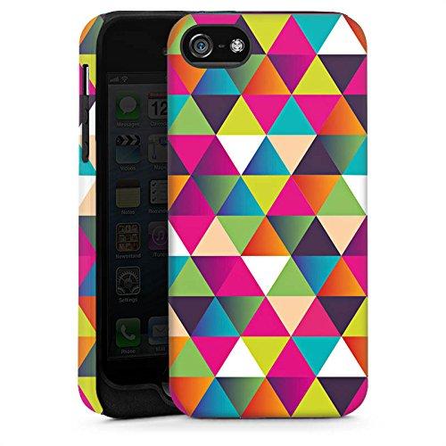 Apple iPhone SE Housse Outdoor Étui militaire Coque Triangles Triangles Triangles Cas Tough brillant