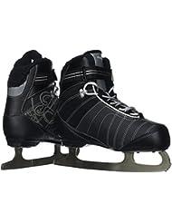 Bauer Bauer Erwachsene Schlittschuhe Bauer React Rec Ice Skate Women - Patines de hockey sobre hielo, color negro, talla 5, 6, 7, 8, 9, 10 und 11