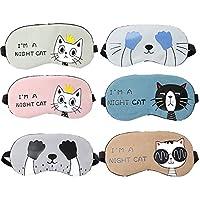 Cuitan 6 Stück Augenmaske Schlafmaske, Augenbinde niedliche Augenmaske Reisen Cartoon Schlaf Maske Kühlung/Heizung... preisvergleich bei billige-tabletten.eu