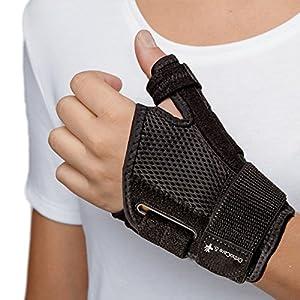 OrthoCare S – Stabilisator Daumen – Daumenbandage ONE SIZE. Passend für beide Hände. Schützt die Daumen in den täglichen Aktivitäten und Sport. Hilft heilen Daumen-Verletzung