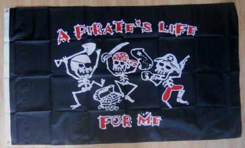 Une vie de pirate pirate pour me Drapeau Grande Taille-5'x 3'.
