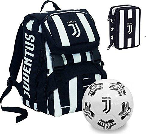 f367b79d80 Seven Zaino scuola sdoppiabile Juventus + Astuccio 3 Zip pieno + Pallone  ufficiale omaggio ...