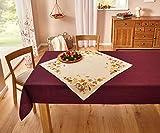 """Dekoleidenschaft Tischdecke """"Herbstblätter"""", 85 x 85 cm, Tischband, Tisch Servieren, Tischläufer"""