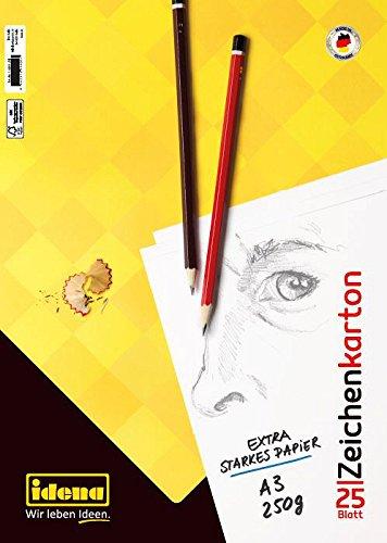 Idena Zeichenkarton FSC-Mix, A3, 25 Bogen, 250 g/m²