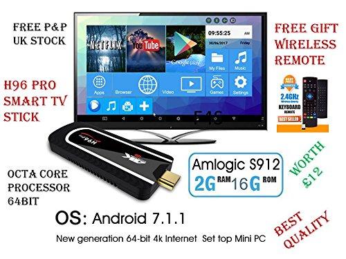 H96-Pro-4K-Smart-TV-Dongle-Stick-2GB-16GB-Mini-PC-Android-7-1-Free-Remote-Gift  YFFS