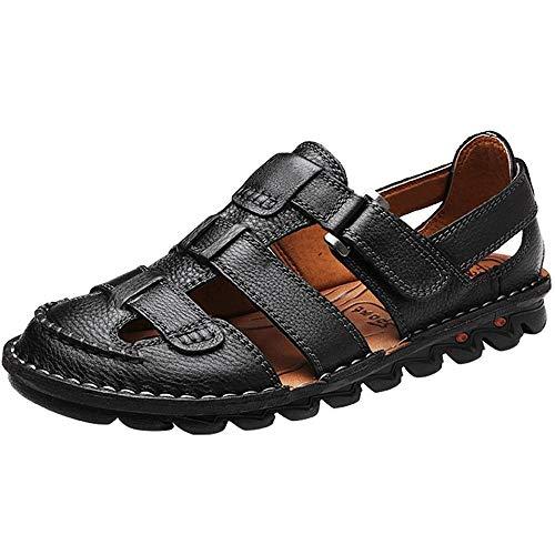 Yaer sandali in pelle da uomo scarpe da spiaggia per gli uomini scarpe sandali eu38-eu48 (2 colore)