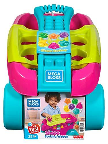 Mega Bloks- Carrito Encajabloques Juguete Bloques