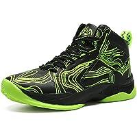 LANSEYAOJI Niños Zapatillas de Baloncesto High-Top Al Aire Libre Calzado Deportivo Moda Lace Up Sneaker Ligeros Zapatos para Correr Antideslizante Zapatillas de Deporte Transpirable