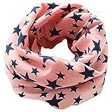 Tangbasi® - sciarpa scaldacollo a stelle per bambini in cotone, fazzoletto da collo o sciarpa ad anello