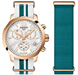 Tissot Damen Chronograph Quarz Uhr mit Nylon Armband T095.417.37.117.01