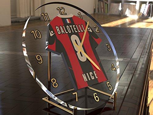 Mario Balotelli 9???Football Ogc Nice Horloge de bureau???Football Legends ?dition limit?e