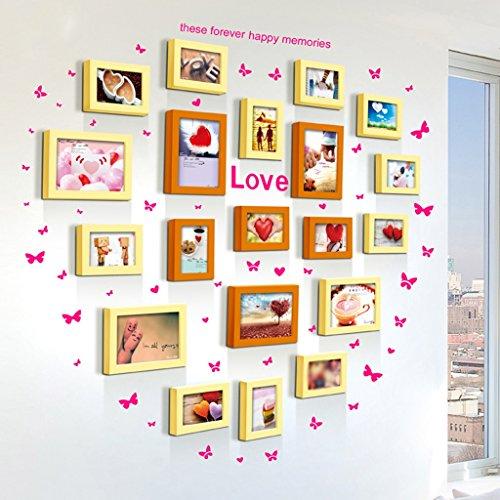 Galleria fotografica ASL Combinazione Telaio da letto Soggiorno Matrimonio Creative Room Muro Piccolo Fresh Offerta speciale a forma di cuore Carta da amore di modo del cuore qualità ( Colore : C )