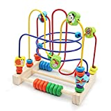 Nuheby Wooden Abacus Toys Bead Maze with 6 Insects 3 Roller Coaster Educational Toys Kids Gift for Boys Girls 3 4 5 Years Old