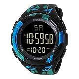 Mamum wasserdichte Digital-Quarz-Armbanduhr mit LED-Display, modische Uhr, im Militär-Design, sportliche Uhr für Herren Einheitsgröße a