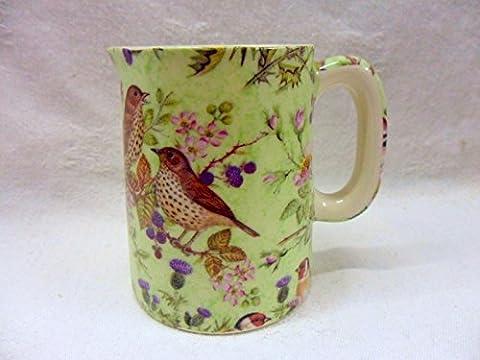 Design Oiseaux sur vert britannique Pichet à lait par Heron