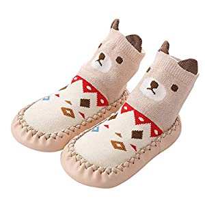 LILICAT Toddler Infant Newborn Baby Socks, Novelty Cute Animal Cat Fox Cotton Baby Boys Girls Indoor Slippers Anti-slip Shoes Socks 0-24 Months Christmas Warm Stockings