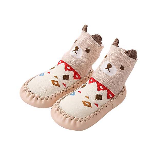 LILICAT Toddler Infant Newborn Baby Socks Novelty Cute Animal Cat Fox Cotton Baby Boys Girls Indoor Slippers Anti Slip Shoes Socks 0 24 Months Christmas Warm Stockings