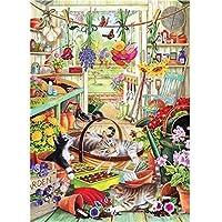 Otter House 1000 Piece Rectangular Jigsaw - Allotment Kittens
