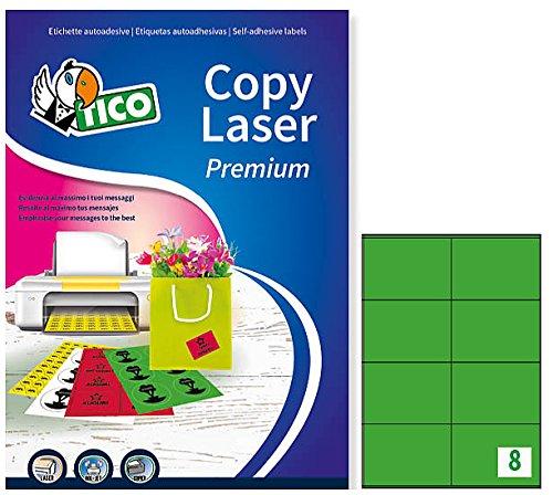 Tico LP4CV-10572 Las etiquetas de colores opacos, FF 70, 105 x 72, verde
