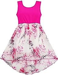 Sunny Fashion Robe Fille Salut-Lo Maxi Coton et Mousseline de soie Rose