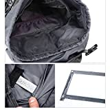 YINYU Travel Backpack Outdoor Large Unisex Durable Waterproof Hiking Backpack for Camping Trekking Fishing Travel and Cycling 56-75L (Black)