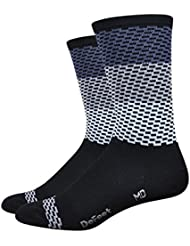 Chaussettes DeFeet Aireator 6 Charleston Gris-Blanc 2017