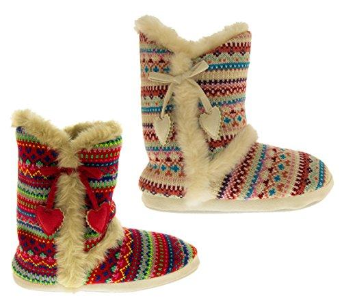 Dunlop Imogen Pantoufles de Mémarrage Tricotés Femmes