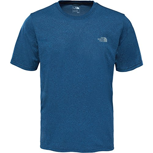 north-face-mens-reaxion-amp-crew-t-shirt-blue-shady-blue-heather-medium