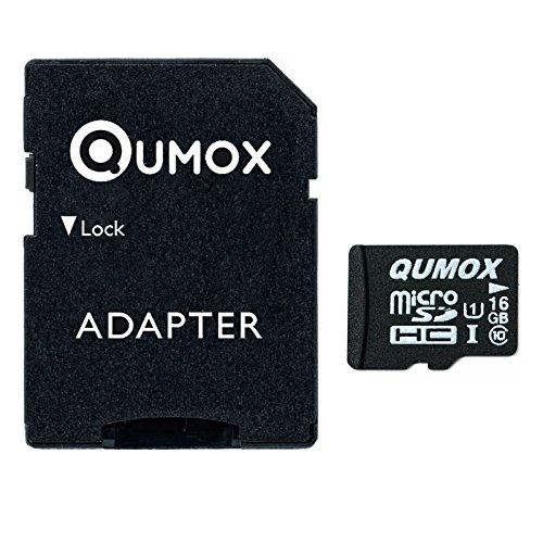 QUMOX 16GB MICRO SD MEMORY CARD CLASS 10 UHS-I 16 GB SPEICHERKARTE HighSpeed Write Speed 12MB/S read speed upto 70MB/S