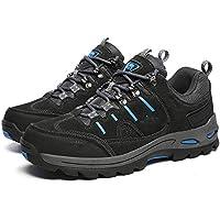 QLX Zapatos para Parejas, Calzado Deportivo Transpirable para Otoño E Invierno, Zapatos Exteriores Ponibles Antideslizantes,Gris,43
