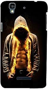 PrintVisa Boy Fire Case Cover for YU Yureka