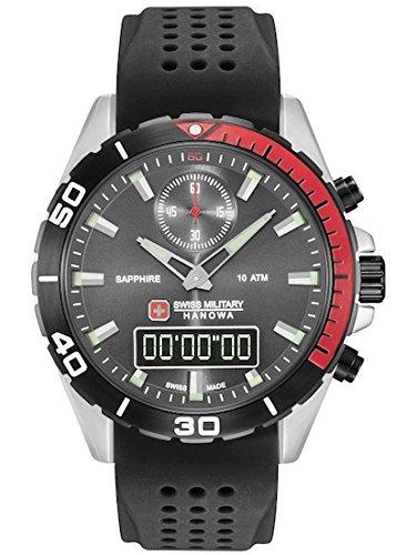 SWISS MILITARY-HANOWA Herren Analog Quarz Uhr mit Silikon Armband 06-4298.3.04.009
