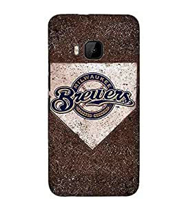 Brewers, Black, MILWAUKEE, Great pattern, Printed Designer Back Case Cover for HTC One M9 :: HTC One M9S :: HTC M9