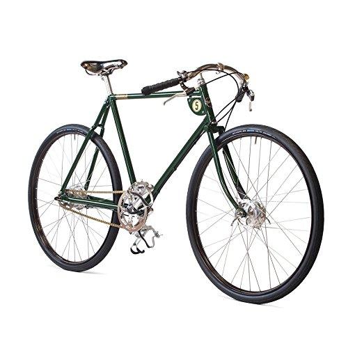 Pashley Speed 5 - Herrenfahrrad im Stil der klassischen Gentlemen-Rennräder, sportlich und edel - 5-Gang-Nabenschaltung, Rahmen 24,5\'\', grün. sportlich - edel - schnell
