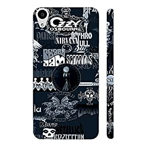 HTC Desire 728 ROCK BANDS BW designer mobile hard shell case by Enthopia