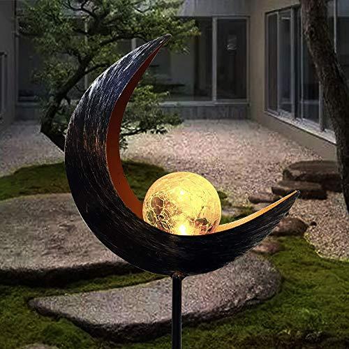 Solarleuchte Solarlampen für Garten Gartenleuchte Solar Mond Leuchte Wegeleuchte mit Erdspieß Außen Beleuchtung Dekoration für Garten 1 PCS ...