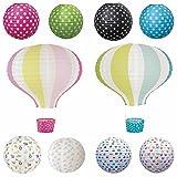 JaBaDaBaDo Lampenschirm Papierlampe Lampion Punkte Rot Pink Japanballon
