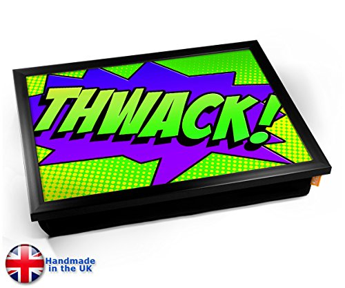 Comic Thwack Cushion TV Dinner Lap Tray Kissen Tablett Knietablett Kissentablett - Schwarzer Rahmen