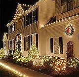 SHINEELI 300 LED Kupfer String, wasserdicht, mit Knopfbatterie, für Indoor und Outdoor Party Weihnachten Tischdekoration Warmweiß (10 Packs),Yellow - 3