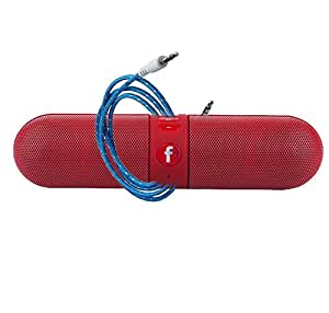 JYARA Combo: Colorize your music system with super sound enable, Red Capsul speaker with fully supported AUX Cable Compatible with all your audio devices & android, window smart Phones. CapRed+AUX-6187